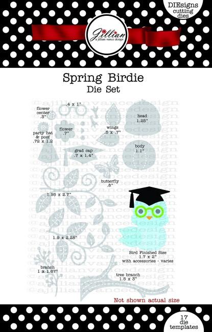 Spring Birdie Die Set