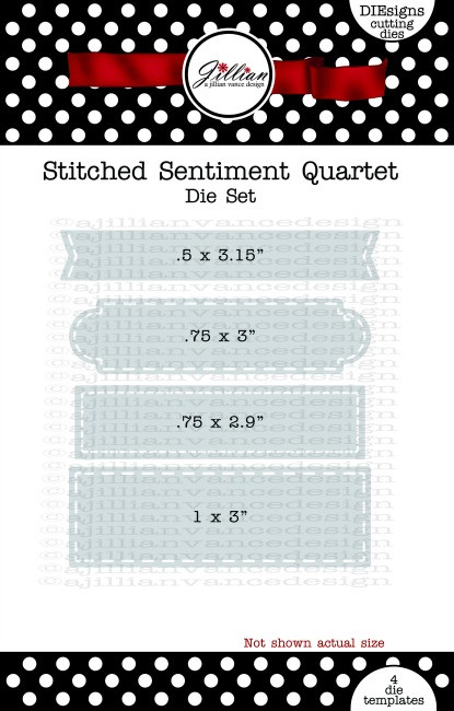 Stitched Sentiment Quartet Die Set