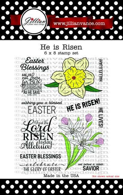 He is Risen 6 x 8 Stamp Set