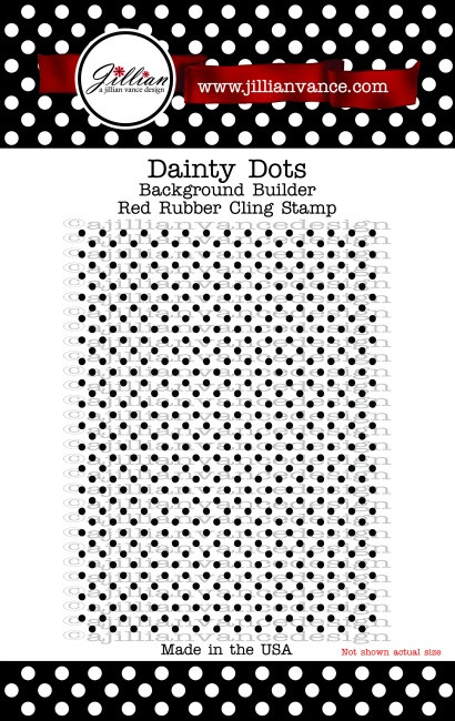 Dainty Dots Background Builder Rubber Cling Stamp