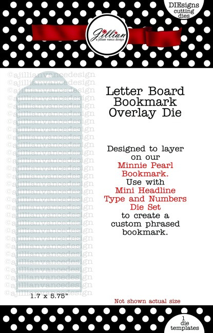 Letter Board Bookmark Overlay Die