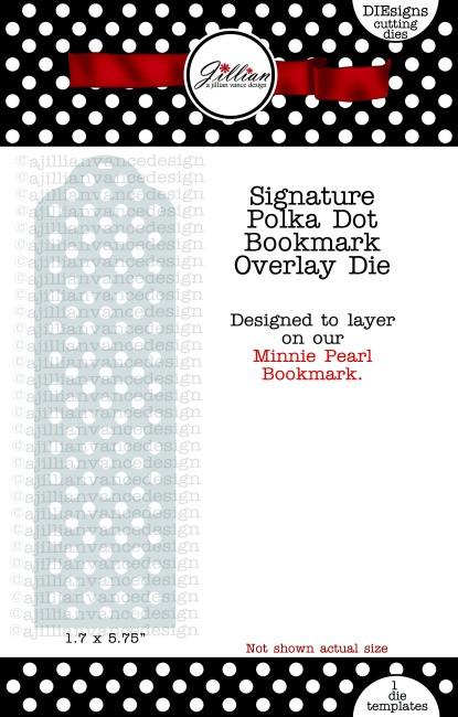 Polka Dot Bookmark Overlay Die
