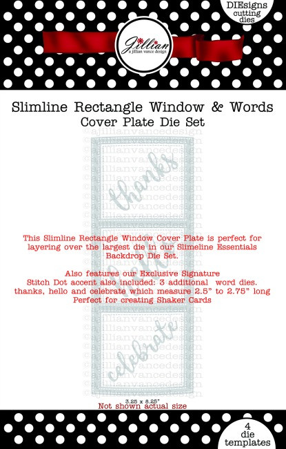 Slimline Rectangle Window & Words Cover Plate Die Set