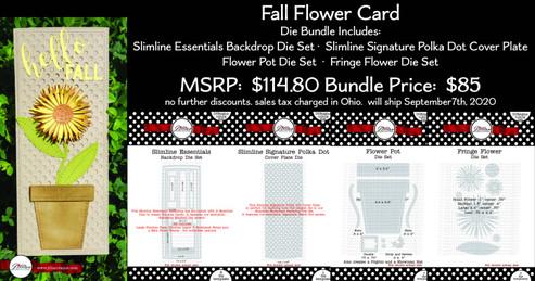 Fall Fringe Flower Card Die Bundle