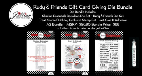 OOAK Rudy and Friends Gift Card Die Bundle