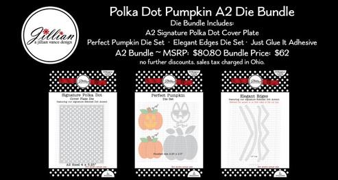 A2 Polka Dot Pumpkin Die Bundle