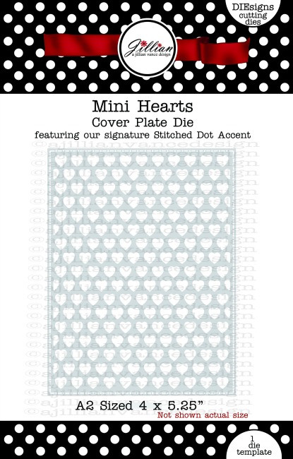Mini Hearts Cover Plate Die