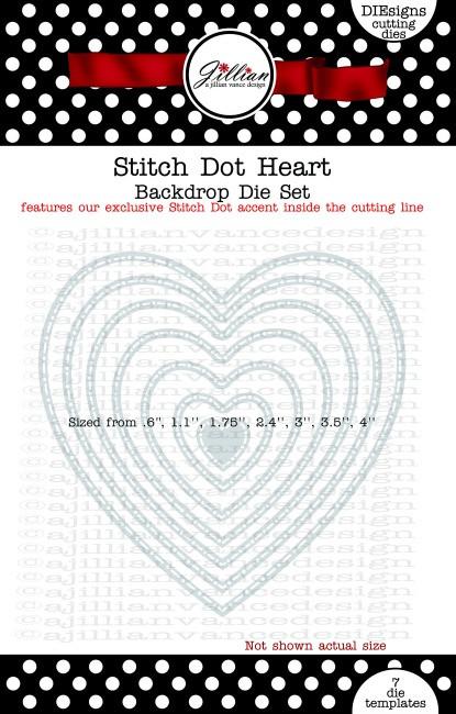 Stitch Dot Heart Backdrop Die Set