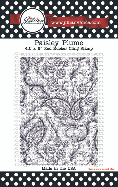 Paisley Plume Background Builder Rubber Cling Stamp