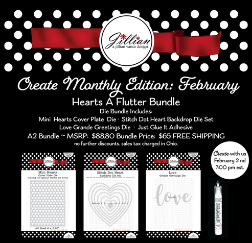 Create Monthly Hearts A Flutter Bundle ~ February 2nd