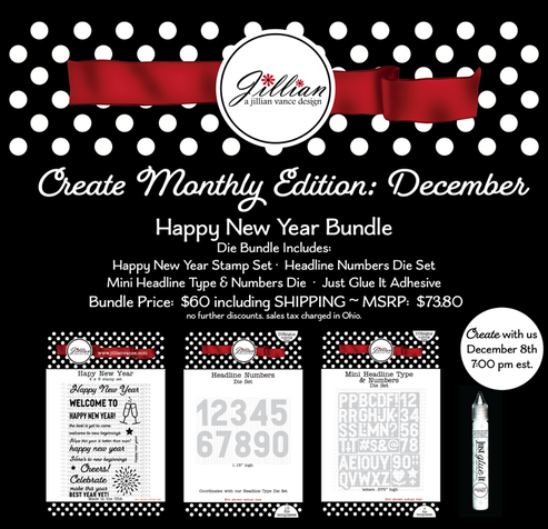 Create Monthly Happy New Year Bundle ~ December 8th