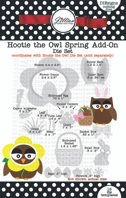 Hootie the Owl Spring Add On Die Set