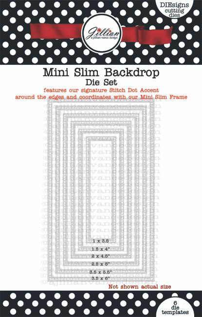 Mini Slimline Backdrop Die Set