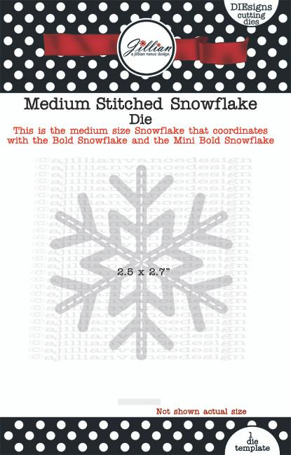 Medium Stitched Snowflake Die