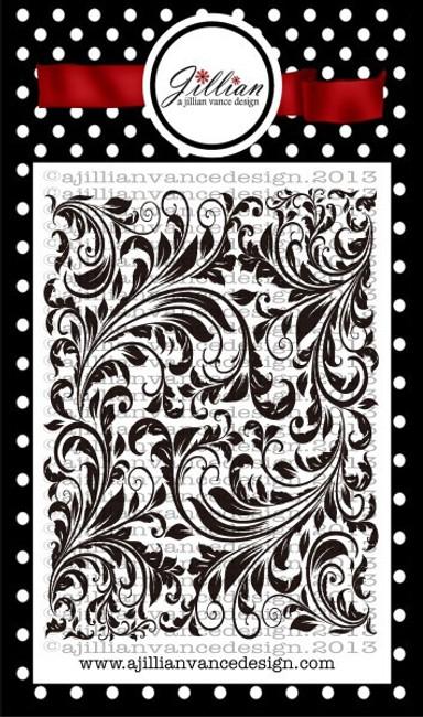 Vintage Floral Background Builder Stamp