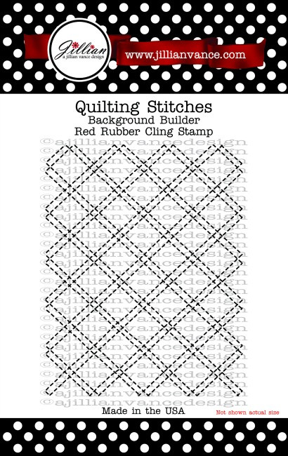 Quilting Stitches Background Builder Cling Stamp