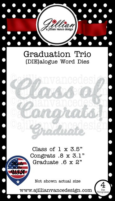 Graduation Trio DIEalogue Word Die Set