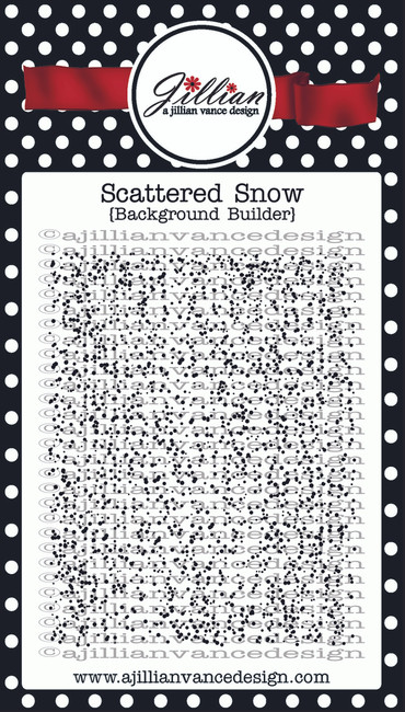 Scattered Snow Background Builder Stamp