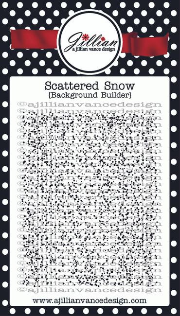 Scattered Snow Background Builder Stamp