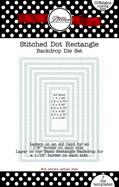 Stitched Dot Rectangle Backdrop Die Set