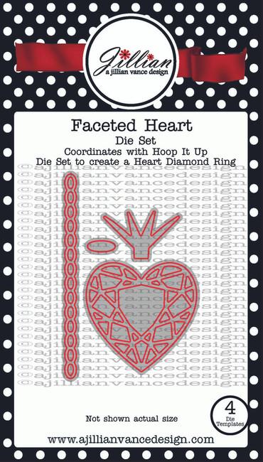 Faceted Heart Die Set