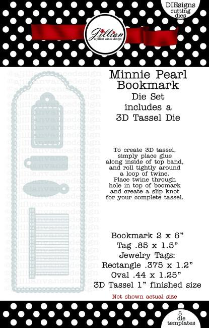 Minnie Pearl Bookmark Die Set