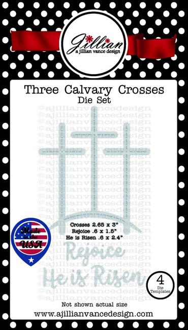 Three Calvary Crosses Die Set