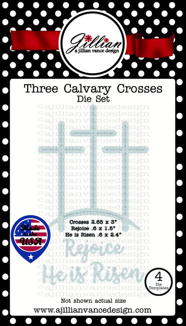 Three Calvary Crosses Die Set