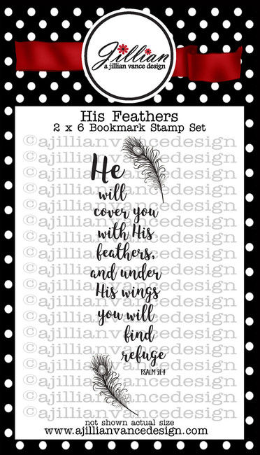 His Feathers Bookmark Stamp