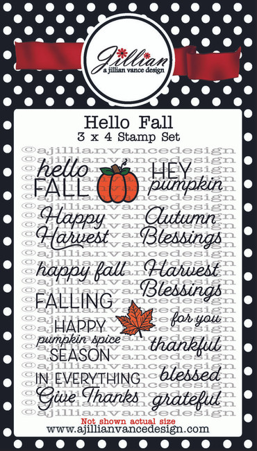 Hello Fall 3 x 4 Stamp Set