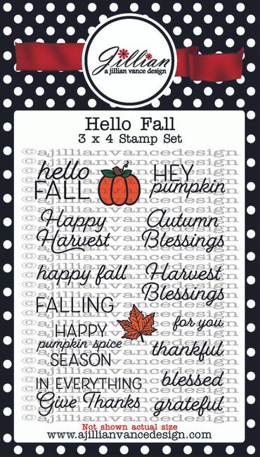 Hello Fall 3 x 4 Stamp Set