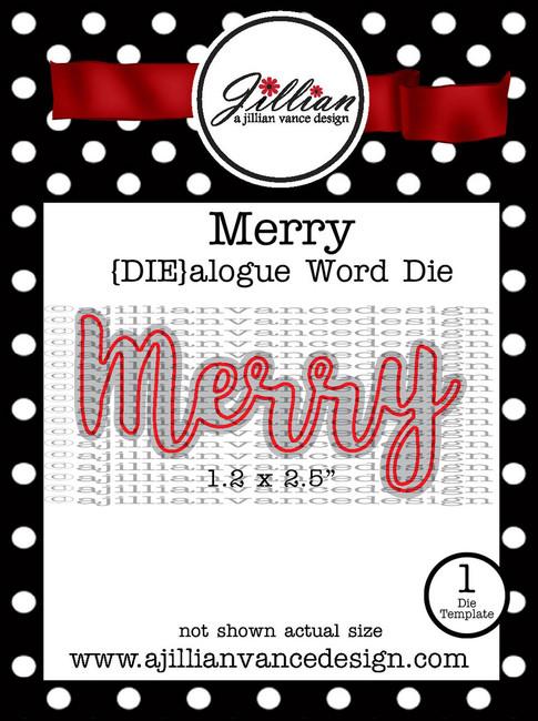 Merry DIEalogue Word Die