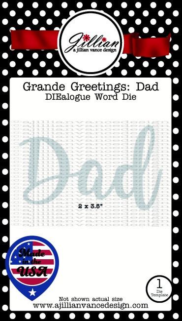 Grande Greetings Dad Word Die