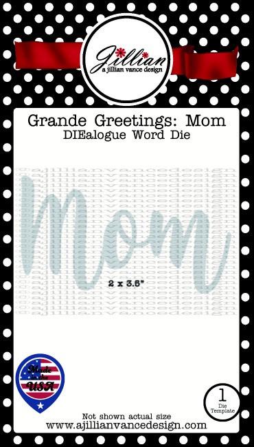 Grande Greetings Mom Word Die