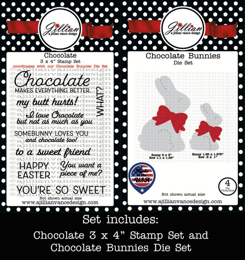 Chocolate Bunnies Stamp and Die Set