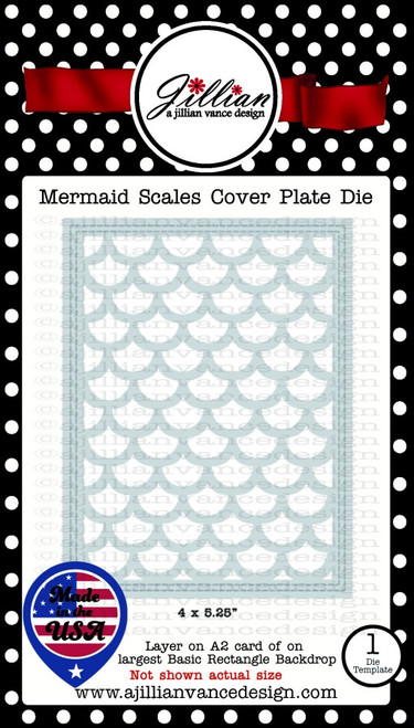 Mermaid Scales Cover Plate Die