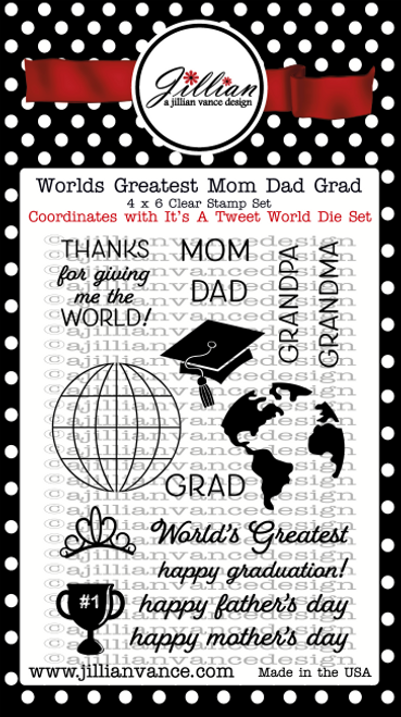 World's Greatest Mom Dad Grad Stamp Set