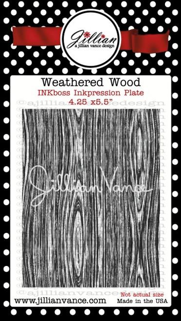 Weathered Wood INKboss INKpression Plate