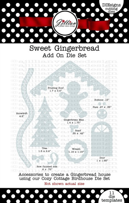 Sweet Gingerbread Add On Die Set