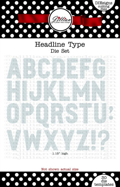 Headline Type Alphabet Die Set