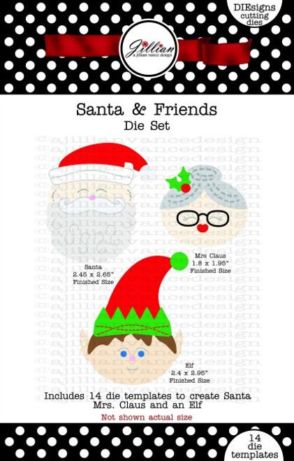 Santa and Friends Die Set