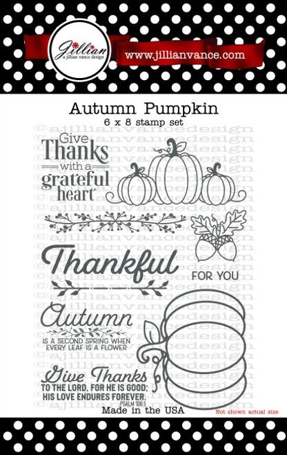 Autumn Pumpkin 6 x 8 Stamp Set