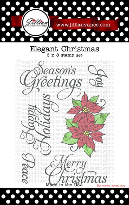 Elegant Christmas 6 x8 Stamp Set