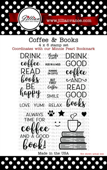 Coffee and Books Stamp Set