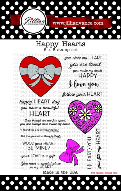 Happy Hearts 6 x 8 Stamp Set