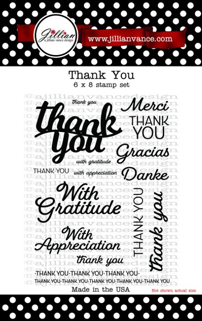 Thank You 6 x 8 Stamp Set