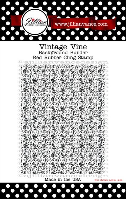 Vintage Vine Background Builder Rubber Cling Stamp