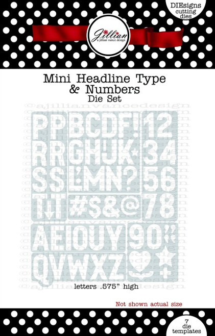 Mini Headline Type & Numbers Die Set