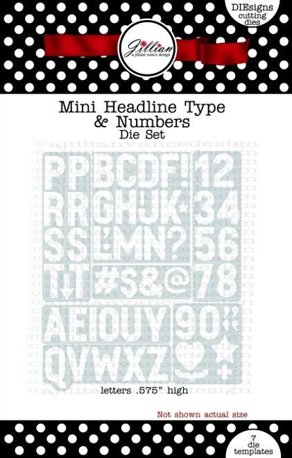 Mini Headline Type & Numbers Die Set