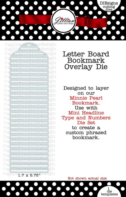 Letter Board Bookmark Overlay Die